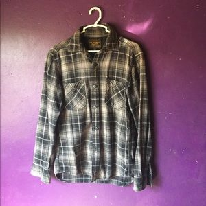 XS authentic flannel original wash black and gray